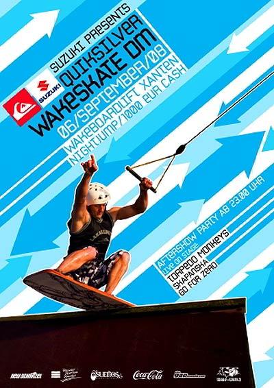 Quicksilver Wakeskate DM 2008.  Foto: Veranstalter