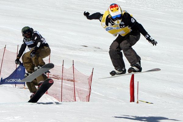 Rennen im Snowboard Cross.  Foto: Oliver Kraus