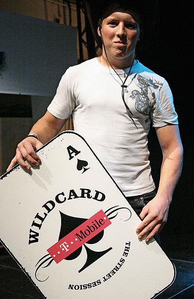 Sebastian Baumelt hat sich die Wildcard geholt.  Foto: Ulrich