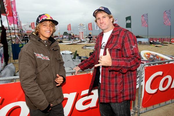 Robby Naish und Kai Lenny.  Foto: HOCH ZWEI / Malte Christians