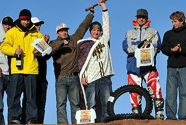 Die Siegerehrung der deuschen FMX-Meisterschaften 2008.  Foto: petipix.de