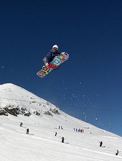 Snowboarder Werni Stock.  Foto: Christian Eberl