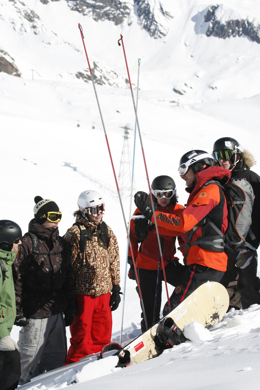 Lawinencamp am Stubaier Gletscher.  Foto: SAAC