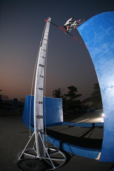 Training vor dem Weltrekordversuch.  Foto: Victor Strasse