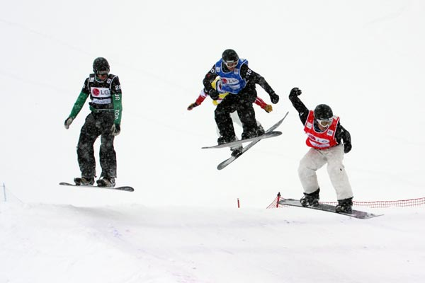 Snowboard Cross in Arosa.  Foto: FIS - Oliver Kraus