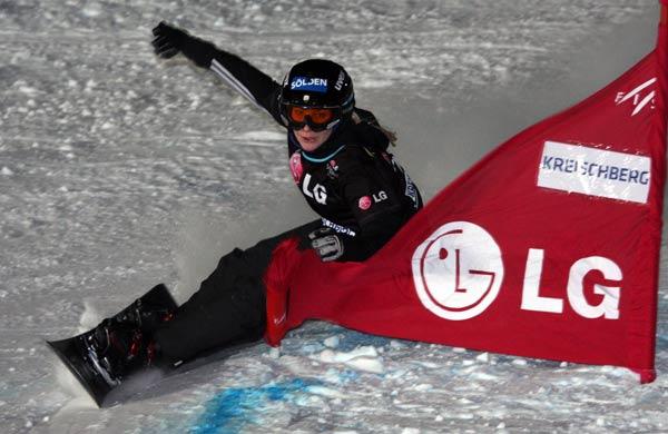 Amelie Kober gewinnt FIS Parallel Slalom am Kreischberg.  Foto: Oliver Kraus, FIS
