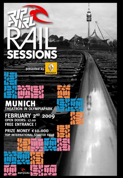 Rip Curl Rail Sessions in München.
