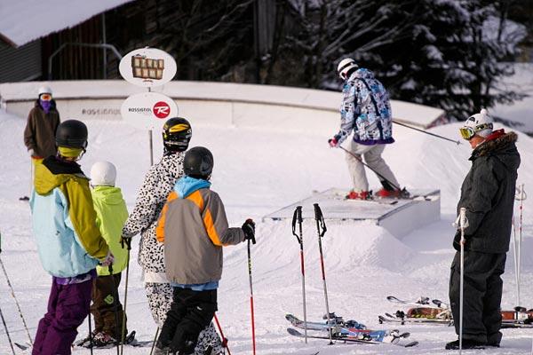 Coaching der Anfänger.  Foto: freeskiers.net