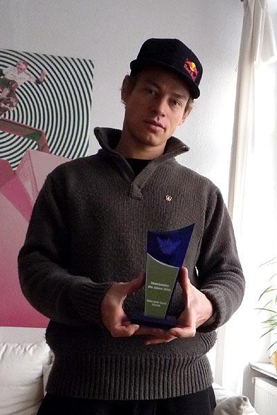 Jürgen Horrwarth ist Skateboarder des Jahres 2008.  Foto: Privat