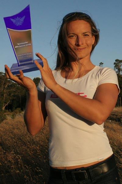 Kristin Boese ist Kitesurferin des Jahres 2008.  Foto: Privat