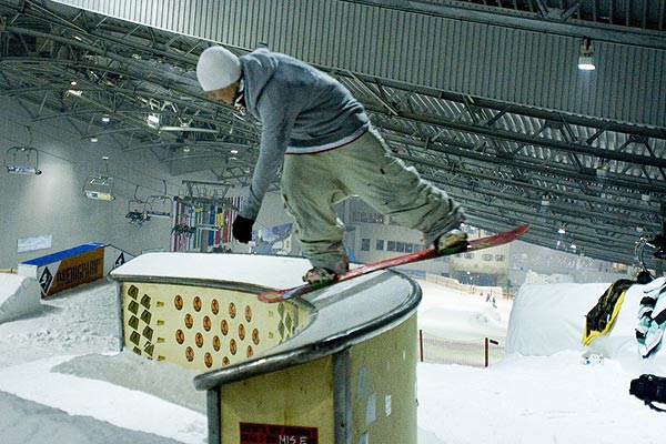 Thomas Peters in der Skihalle.  Foto: Privat