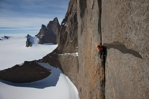 Besteigung an senkrechter Wand.  Foto: Veranstalter