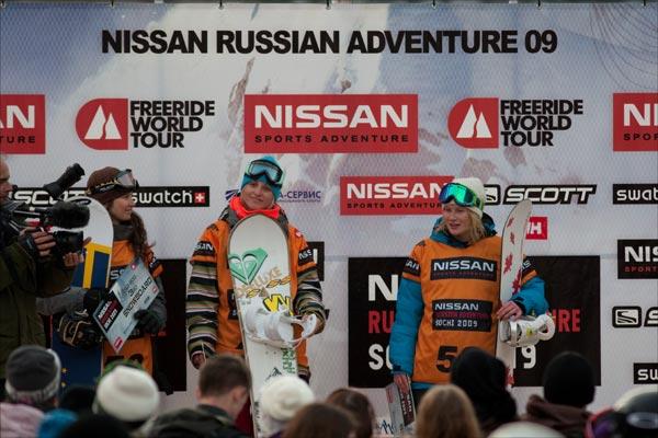 Siegerin Aline Bock mittendrin.  Foto: Nissan Russian Adventure / C.Margot