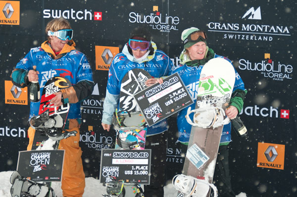 Podium der Crans Montana Champs Open 2009.  Foto: Messikommer