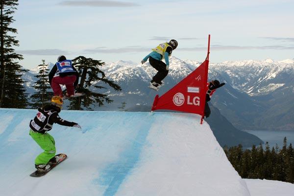 Snowboard Cross in Cypress.  Foto: FIS - Oliver Kraus
