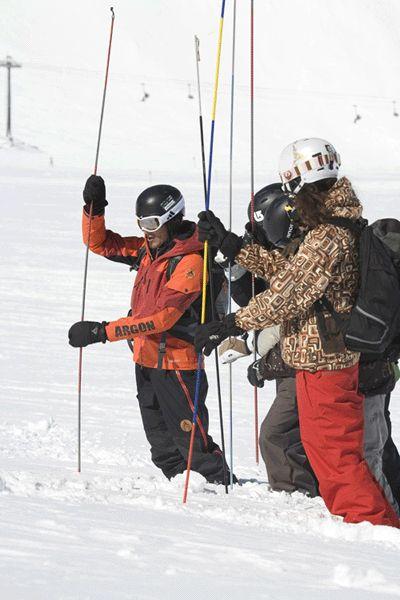 SAAC Lawinencamps dienen der Sicherheit im Schnee.  Foto: SAAC