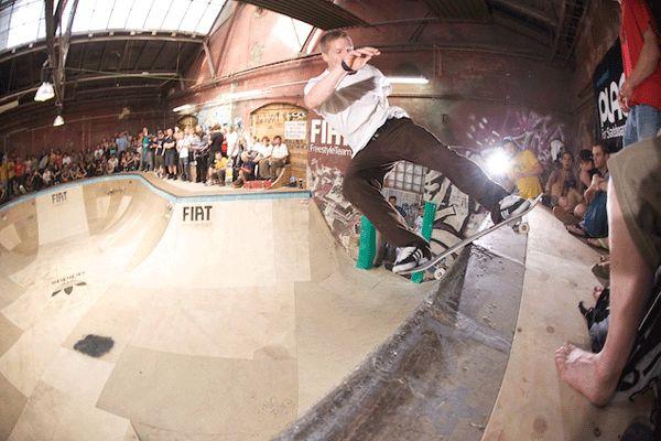 Dennis Busenitz beim skateboard clash 2008.  Foto: Skatehalle Berlin