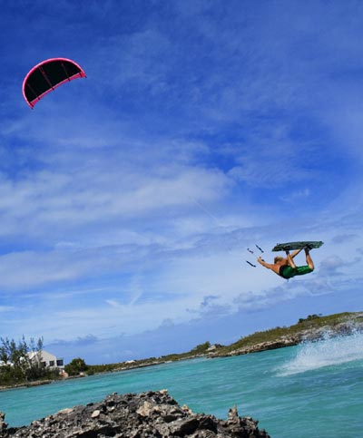 Kitesurfer Julian Hosp im Portrait.  Foto: Jacqueline d'Entremont