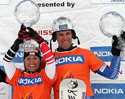 Overall Gewinner Parallel Doresia Krings und Simon Schoch. Foto: FIS