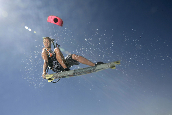 Kitesurfweltmeisterin Kristin Boese.  Foto:
