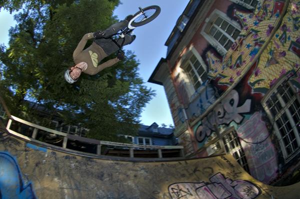BMX-Rider Paddy Groos im Porträt.  Foto: Joachim Jaeger