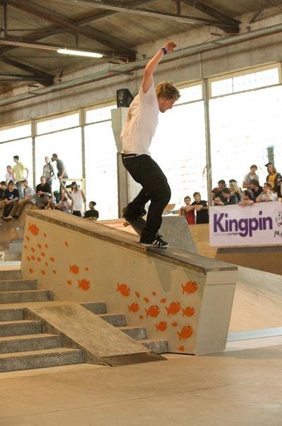 Dennis Busenitz.  Foto: Skatehalle Berlin