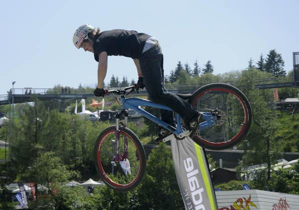 Pro Slopestyle Competition the The Dirtmasters Festival in WInterberg, Germany.  Copyright: Shannon Maguire