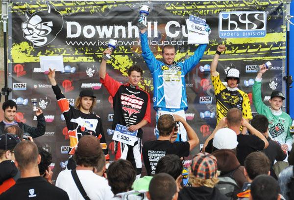 Siegerehrung Elite Men Verbier 2009.  Foto: Racement