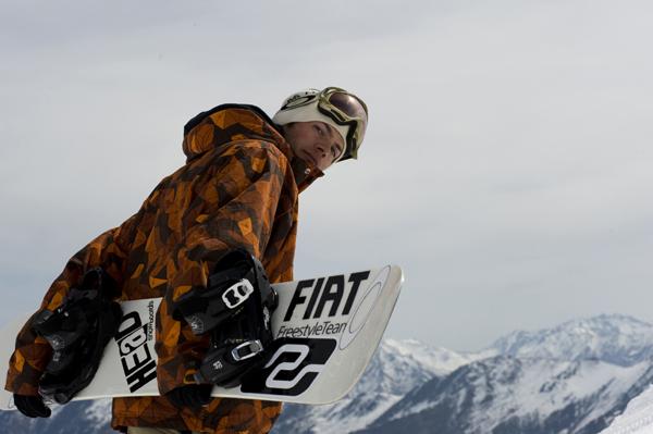 Snowboarder Christophe Schmidt Foto: Fiat Freestyle Team