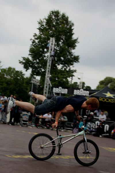 BMX World Flatland Contest,  Rayk Hahne.  Foto: Sophie Friedel