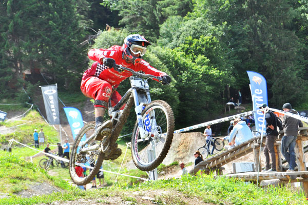 Sieger Nick Beer in Leogang.  Foto: Racement