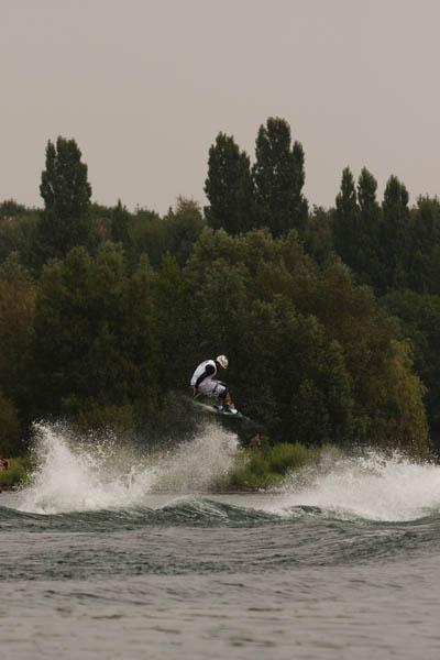 Deutsche Wakeboard Meisterschaft 2009 am Boot.  Foto: Jan Miethke