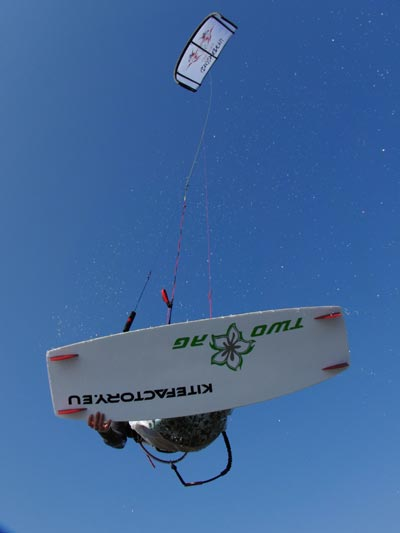 Kitesurferin Annika Sellin.  Foto: Annika Sellin