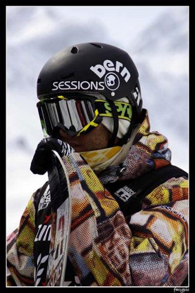 Snowboard Profi Benjamin Deeg im Interview.  Foto: Facy