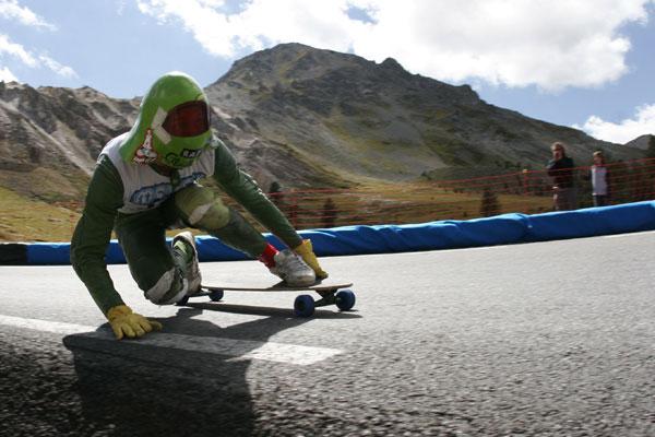 Alexander von Glasow bei einem Downhill-Rennen.  Foto: Veranstalter