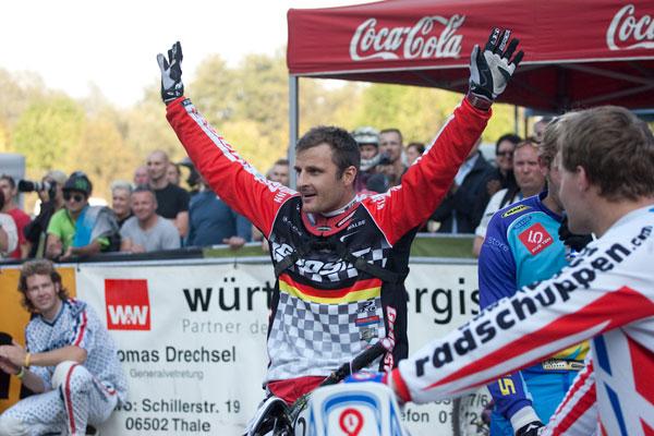 Gewinner des German Downhill Cup: Marcus Klausmann.  Foto: Thomas Dietze