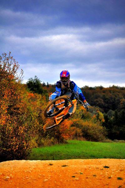 Mountainbiker Alessandro Ponzetta.  Foto: Privat