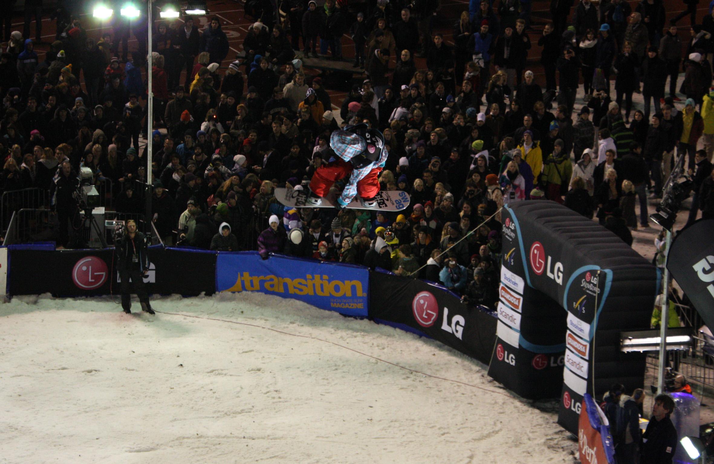 Gjermund Braaten beim Snowboard FIS World Cup 2010 in Stockholm Foto: FIS-Oliver Kraus