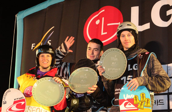 Podium Big Air Seoul Foto: FIS-Oliver Kraus