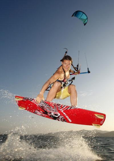 Kristin Boese starten KB4Girls Kitesurf Tour 2010.  Foto: Jessica Shell.