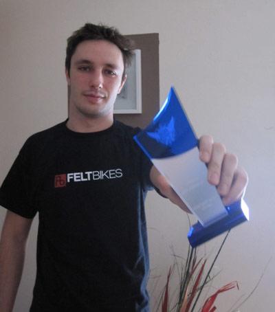 Action Sports Awards: Sergej Geier ist BMXer des Jahres 2009 Foto: Privat