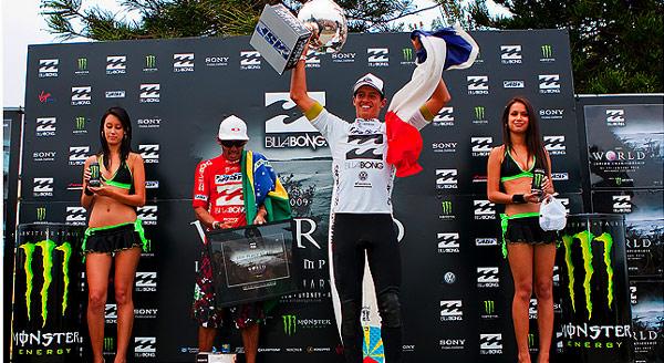 Maxime Huscenot und Laura Enever gewinnen Junior Surf-Weltmeisterschaft Foto: Veranstalter