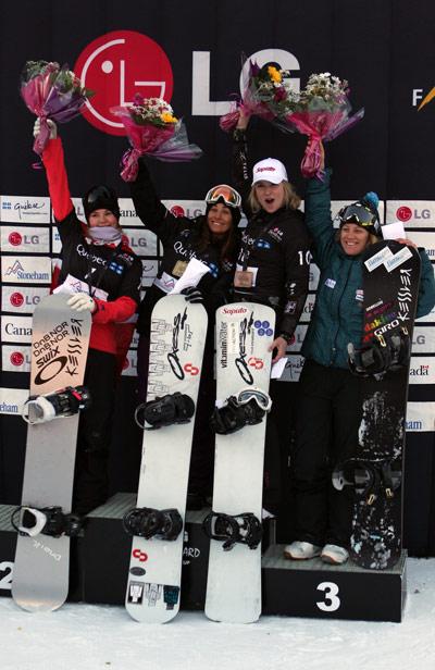 FIS Snowboard Cross: Maelle Ricker und Pierre Vaultier gewinnen in Stoneham Foto: FIS-Oliver Kraus