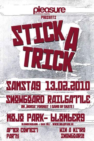 Stick a Trick am Blomberg.  Foto: Veranstalter