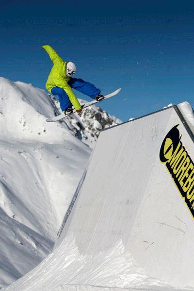 Patrick Tilg im Snowpark Sölden.  Foto: Rudy Wyhlidal