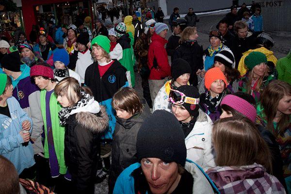 Die Crowd in St. Anton.  Foto: Simon Van Hal