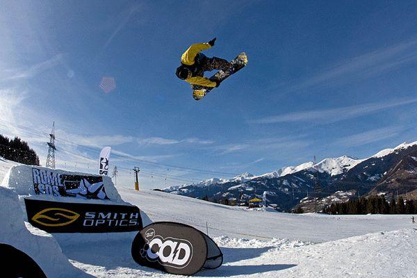 Snowboarder am Maiskogel.  Foto: Andreas Mohaupt