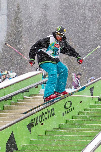 Roy Kittler bei den European Freeski Open 2010.   Foto: Christian Stadler