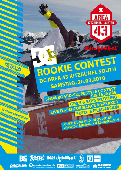 Flyer DC Rookie Contest in Kitzbühl Foto: DC