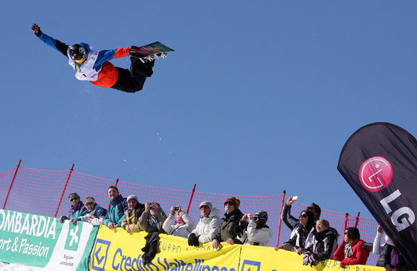 Michael Logocki bei den FIS Snowboard Weltmeisterschaften in Valmalenco 2010.  Foto: FIS-Oliver Kraus